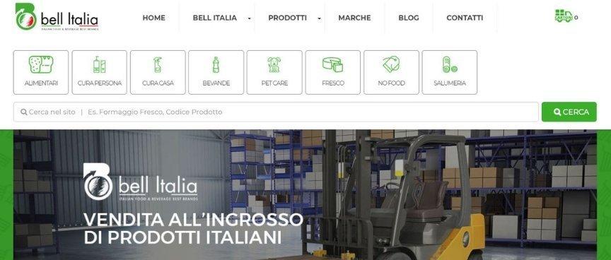 BELL ITALIA SITO ONLINE INGROSSO PRODOTTI ITALIANI