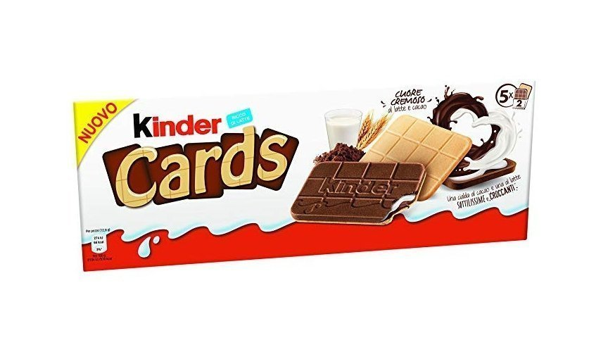 5 prodotti Ferrero più richiesti Kinder Cards