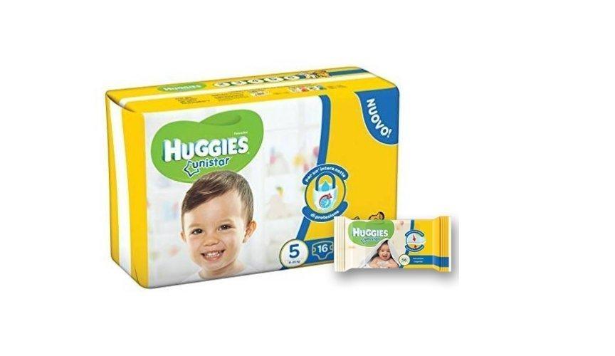 Brand internazionali Huggies pannolini e salviettine
