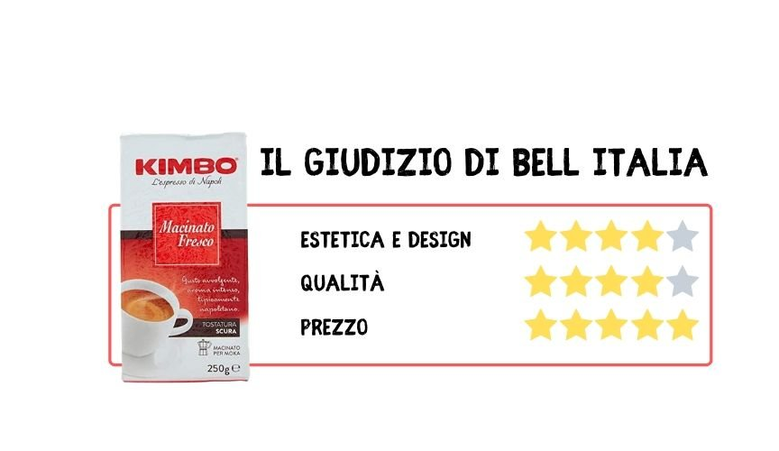 Excellent Italian coffee Kimbo Bell Italia Srl