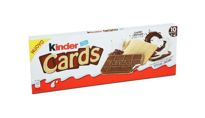 prodotti food italiani per bambini kinder cards bell italia
