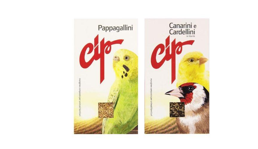 prodotti pet food italiani cip pappagallini, canarini e cardellini
