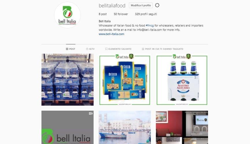 bell italia su instagram e youtube