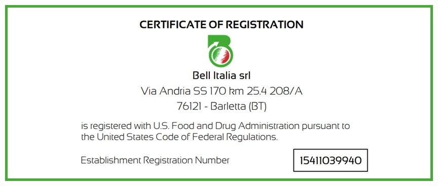 Export prodotti italiani negli USA - Bell Italia srl