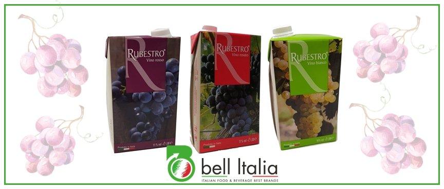 Vino italiano in brik - Rubestro - Bell Italia srl