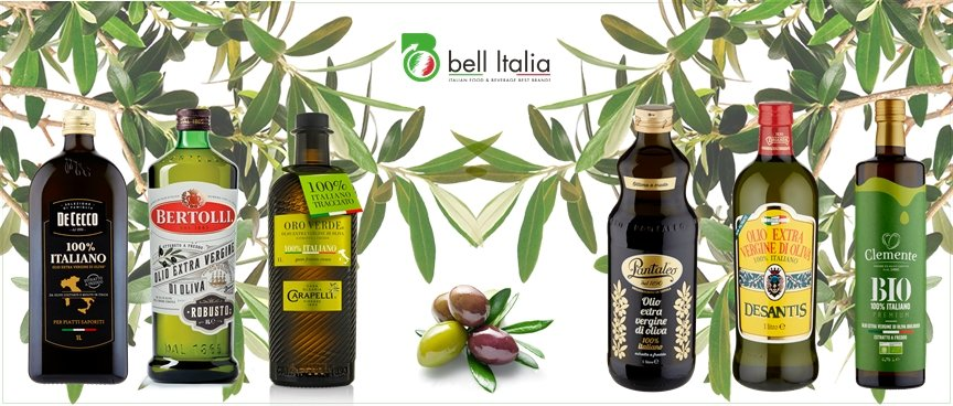 Olio extra vergine d'oliva brand italiani