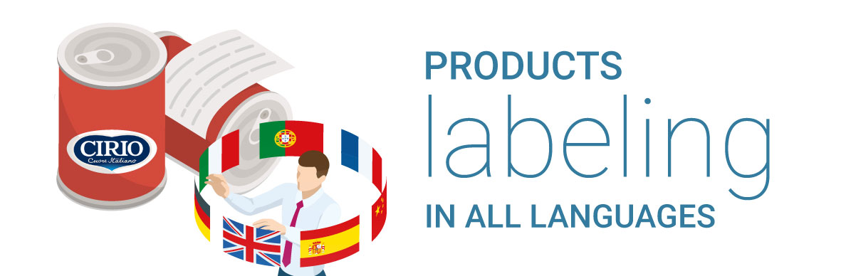Bell Italia Products labelling